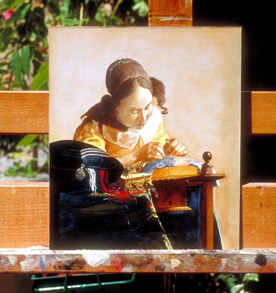 Copia d'autore La Merlettaia di Vermeer