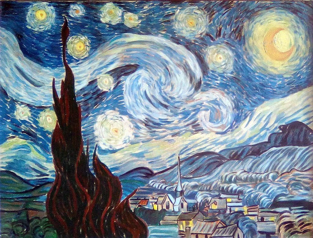 """Copia qaudro d'autore """"Notte Stellata"""" - Van Gogh"""