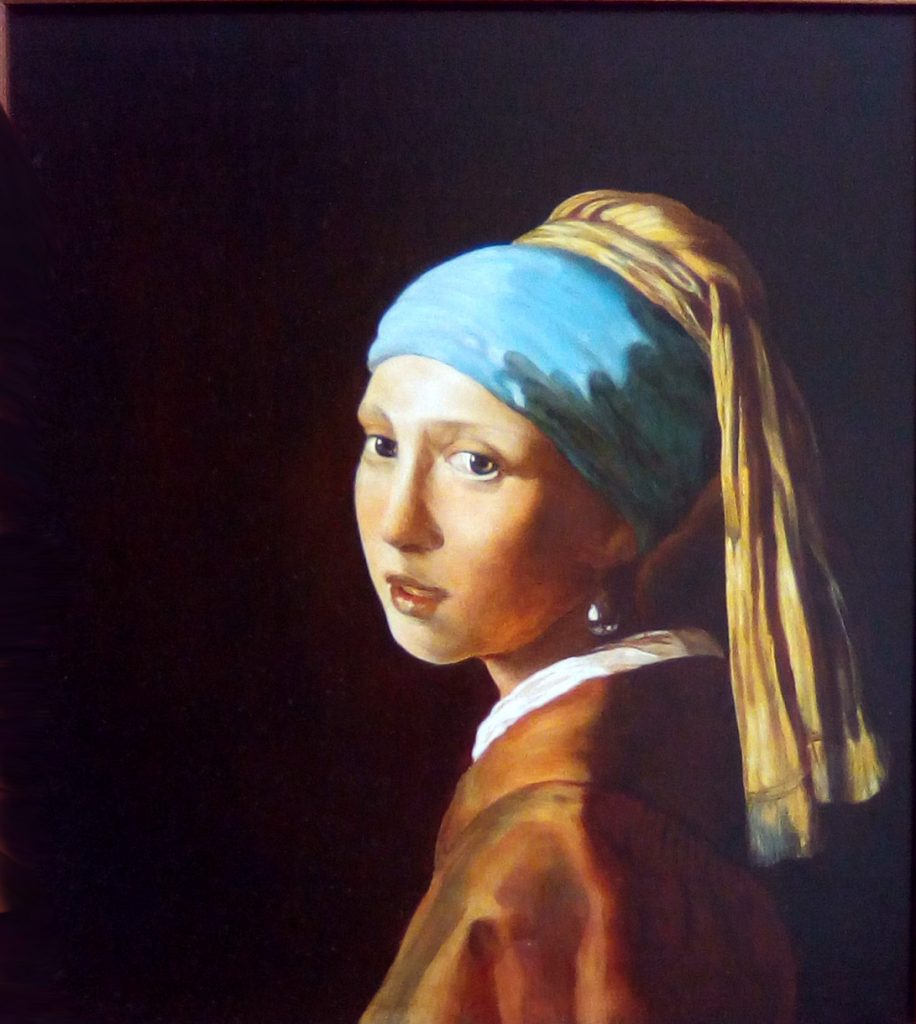 """Copia quadro d'autore """"Ragazza con turbante e perla"""" - Vermeer"""