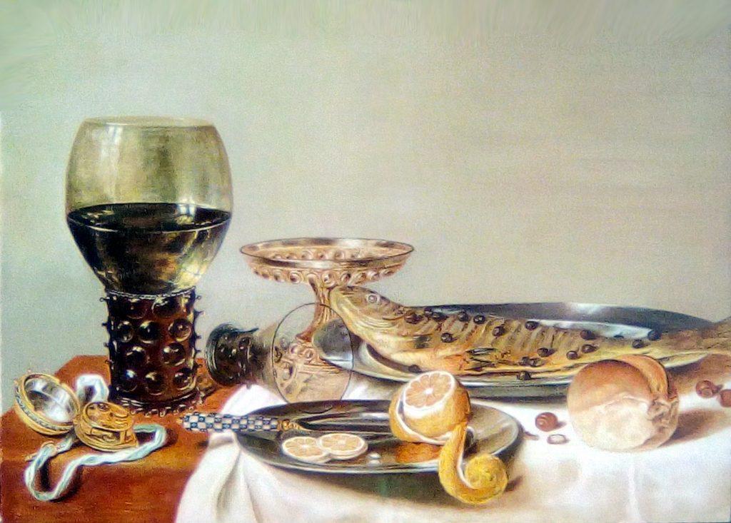 Copia quadro d'autore- fiammingo Natura morta di Willem Claesz Heda
